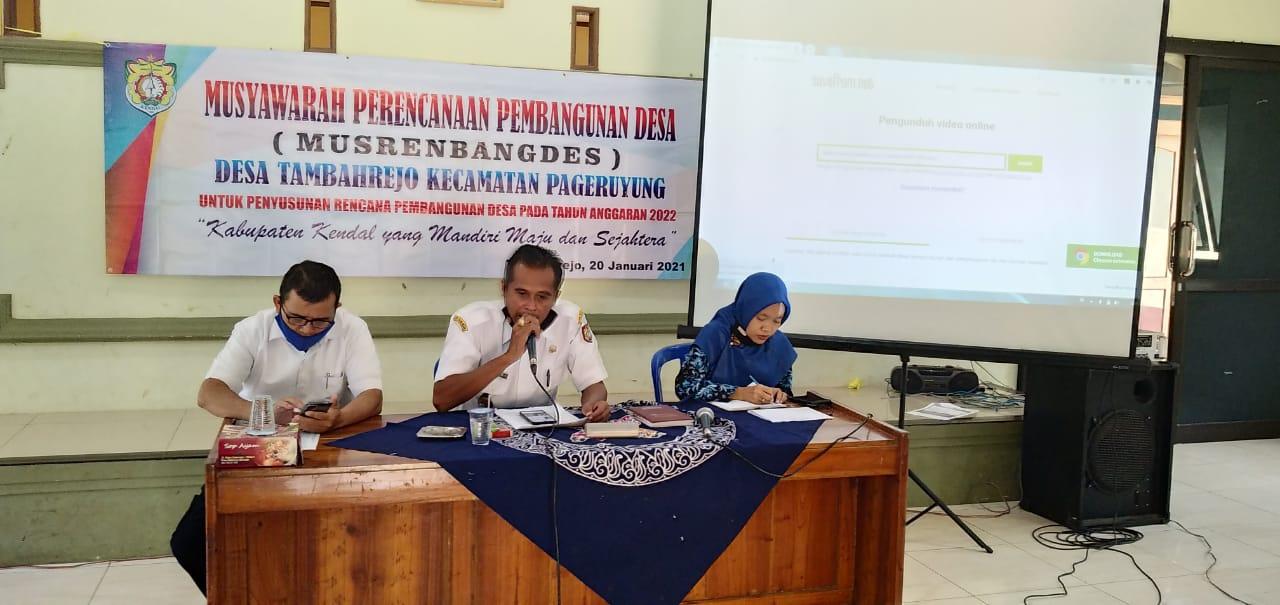 Musrenbangdes 2022 Desa Tambahrejo
